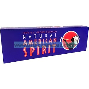 American Spirit 100% US Grown Full Bodied Dark Blue Cigarettes