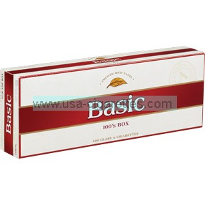 Basic 100's cigarettes