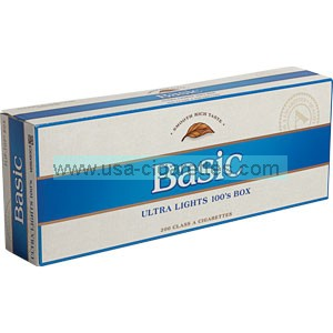 Basic Blue 100's cigarettes