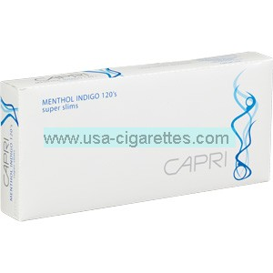 Capri Menthol Indigo 120's cigarettes