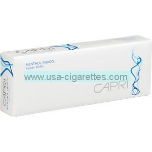 Capri Menthol Indigo 100's cigarettes