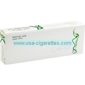 Capri Menthol Jade 100's cigarettes