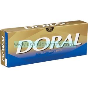 Doral Gold 100's cigarettes