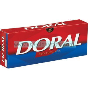 Doral Red 100's cigarettes