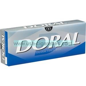Doral Silver 100's cigarettes