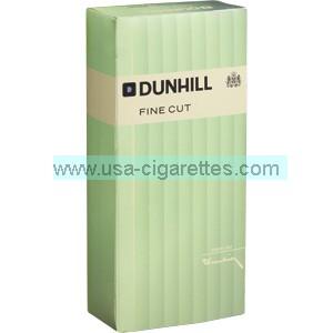 Dunhill Fine Cut Green box cigarettes