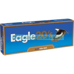 Eagle 20's Blue 100's Cigarettes