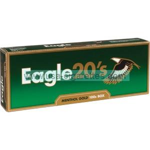 Eagle 20's Menthol Gold 100's Cigarettes