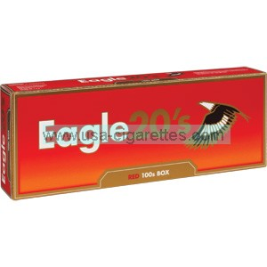 Eagle 20's Red 100's Cigarettes
