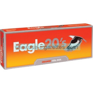 Eagle 20's Orange 100's Cigarettes