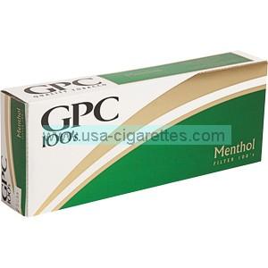 GPC Menthol 100's cigarettes