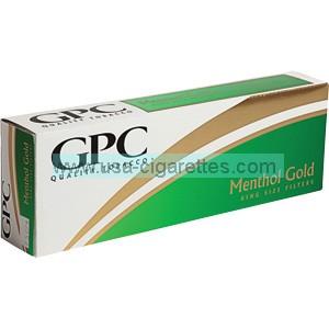 GPC Menthol Gold cigarettes