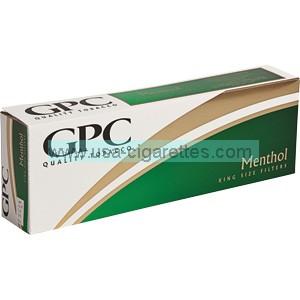 GPC Menthol King cigarettes