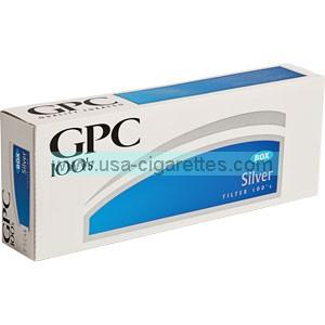 GPC Silver 100's cigarettes