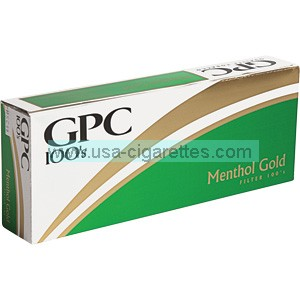 GPC Menthol Gold 100's cigarettes
