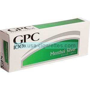 GPC Menthol Silver 100's cigarettes