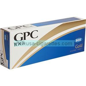 GPC Gold 100's cigarettes