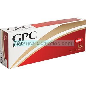 GPC Red 100's cigarettes