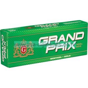 Grand Prix Menthol Gold 100's cigarettes