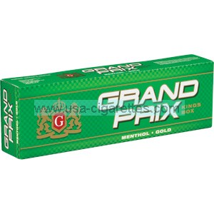 Grand Prix Menthol Gold Kings cigarettes