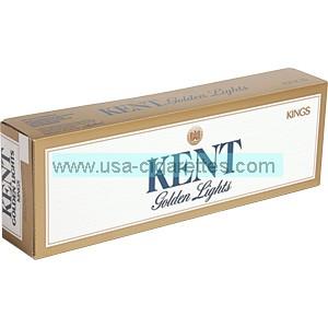 Kent Golden light Kings cigarettes