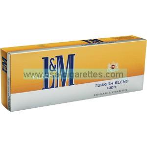 L&M Turkish Blend 100's Cigarettes