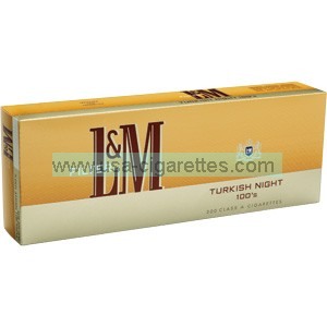 L&M Turkish Night 100's cigarettes