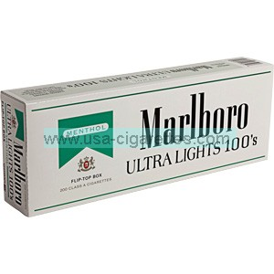 Marlboro Menthol Silver Pack 100s Box Cigarettes Cheap Cigarettes