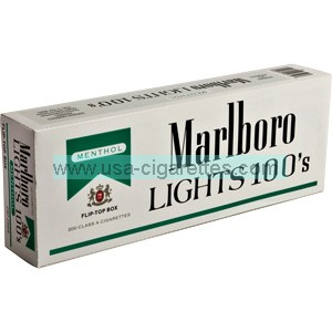 Marlboro Menthol Gold Pack 100's box cigarettes