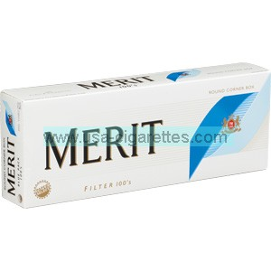 Merit Blue 100's cigarettes