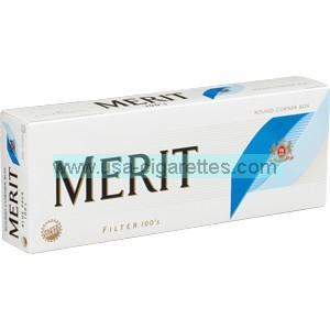 Merit Blue 100's cigarettes