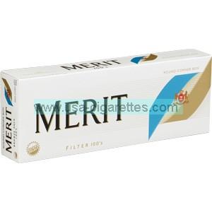 Merit Bronze 100's cigarettes