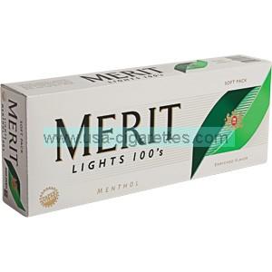 Merit Menthol 100's cigarettes