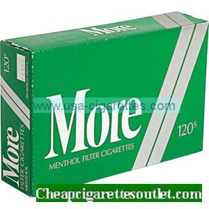 More Menthol 120's cigarettes