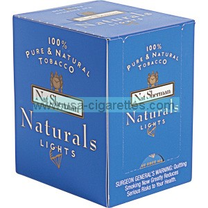 Nat Sherman Naturals Blue Cube cigarettes