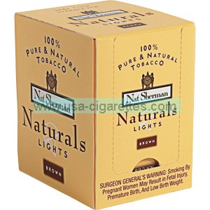 Nat Sherman Naturals Yellow Cube cigarettes