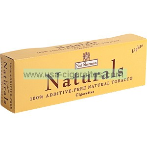 Nat Sherman Naturals Yellow Kings cigarettes