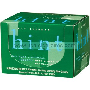 Nat Sherman Hint of Menthol Cube cigarettes