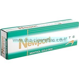 Newport Menthol Gold box cigarettes