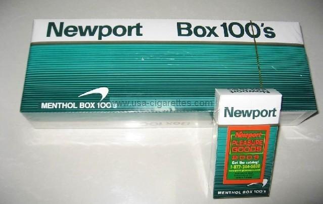 Newport 100's cigarettes 2009
