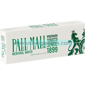 Pall Mall White King Cigarettes