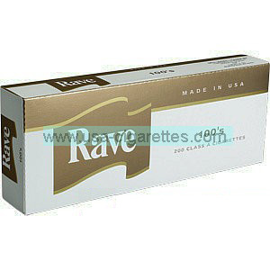 Rave Gold 100's cigarettes