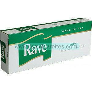 Rave Menthol Dark Green 100's cigarettes