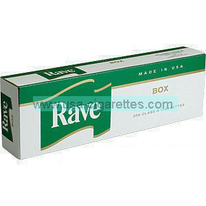 Rave Menthol Dark Green Kings cigarettes