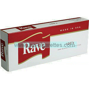 Rave Red 100's cigarettes