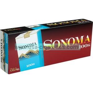 Sonoma Blue 100's cigarettes