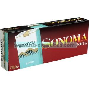 Sonoma Menthol Green 100's cigarettes