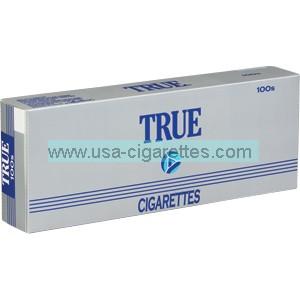 True 100's cigarettes