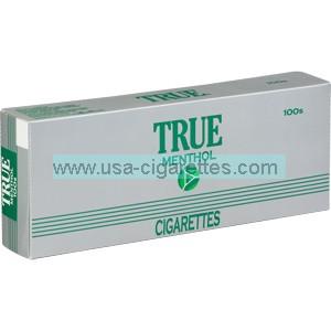 True Menthol cigarettes