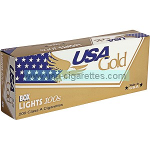 USA Gold lights 100s cigarettes